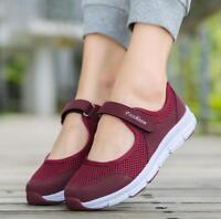 Women Slip On Elastic Flat Shoes Summer Breathable Casual Sandals Plus size