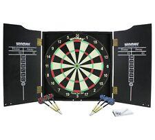 Winmau Dartboard Cabinet Darts Set Dart Board Complete for Full Bristle Game New