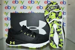 Under Armour Men's Charged Vantage Marble Running Shoes 3024734 002 Black/Yellow