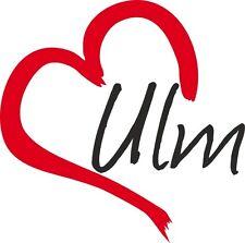 """Voiture autocollant """"ulm"""" sticker ville Allemagne environ 9x9cm contour."""