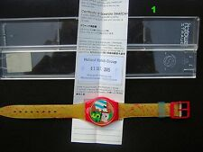 "SWATCH ""COLLAGE DORE"" 1994 GR116 BRAND NEW /BOXED DESIGNER ""UGO NESPOLO"" RARE"