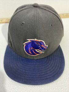 NCAA Boise State Broncos New Era Cap Hat Fitted Size 7 5/8 Wool Blend