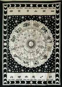 Tapestry Indian Astrology Sun Zodiac Mandala Wall hanging Poster Home Decor Art