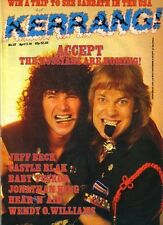 Baltes & Hoffmann of Accept Kerrang No: 117 Cover 1986