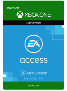 EA PLAY (EA ACCESS) - 12 Month Membership Xbox One (Works Worldwide)