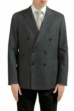 "Hugo Boss ""Morissey"" Men's Gray Double Breasted Blazer Sport Coat US 40R IT 50"