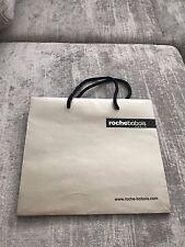ROCHE BOBOIS Metallic Gold Designer Paper Shopping Bag