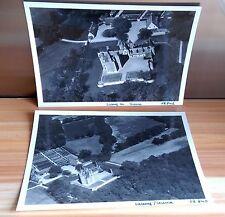 """2 ANCIENNES PHOTOS AÉRIENNE de ROGER HENRARD 1949 """" LASSAY / CROISNE  """""""