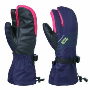 Snowboarding Snow Ski Mittens Touch Screen Blue Gloves Men Waterproof Windproof