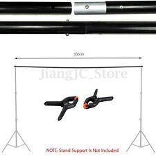 Adjustable Background Crossbar Kit & 2 Clip Photo Studio Backdrop Support Stand
