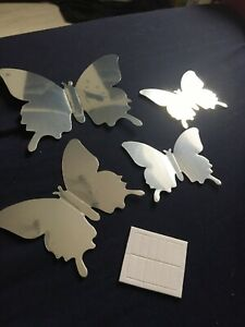 Pcs 3D Butterfly Mirror Wall Sticker Room Home Decal Art Wedding Decoration Kids