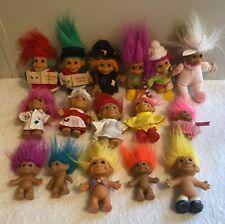 Lot of 16 Vintage Russ Troll Dolls
