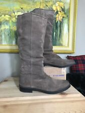 Blackstone Goodyear Welted Almond Suede  Boots Pull Knee High Slouchy 40
