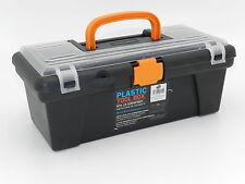"""12"""" Mango de plástico Caja de Herramientas Tapa Transparente compartimentos de bits múltiples contenedor de almacenamiento"""