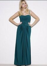 Holly Willoughby Teal Green Jersey Bustier Robe Longue 12 * porté une fois * SUPERBE 💜