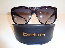 5aef327ce1 Bebe MODERNISTA BB7140 Jet Fashion Rectangular Sunglasses New Womens Eyewear