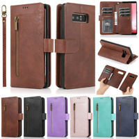 Zipper Wallet Leather Flip Cover Case For Samsung A51 A71 A50 S20 S10 S9 S8 Plus