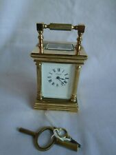 VINTAGE MINIATURE L'EPEE VENITIENNE CARRIAGE CLOCK + KEYS IN GOOD WORKING ORDER