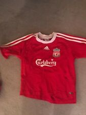 Liverpool FC retro boys shirt. Size 24/26  Sponsor Carlsberg.