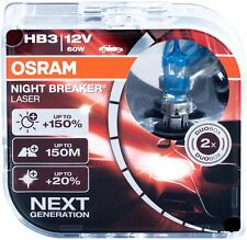2x 9005 hb3 headlight kit Bulbs high beambulb pair light car lamp Osram Laser