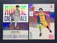 2017-18 Panini Status #118 Lonzo Ball 2 Card Rookie Lot RC Los Angeles Lakers