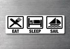 Eat Sleep Sail sticker quality 7 year water & fade proof vinyl boat laser yacht