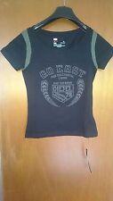"""Ladies T-Shirt DIESEL  """"Go East"""" Black (Crop/belly top) - Small (Sale)"""