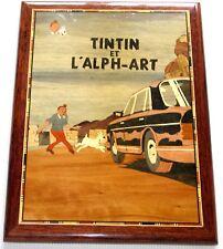 "Marqueterie ""Tintin et l'Alph'Art"""