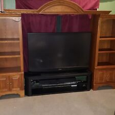 Entertainment Center TV Expandable Solid Red Oak Wood Shelve Rustic Traditional