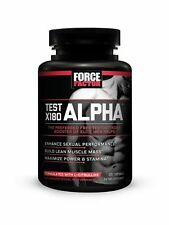 Force Factor Test X180 Alpha, Free Testosterone Booster, 120 Count