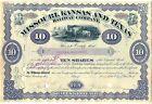 Missouri Kansas & Texas Railway Company Stock Certificate Railroad Purple