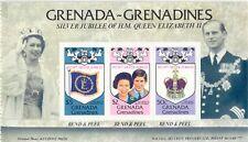 GRENADINEN VON GRENADA 1977 Silber Jubiläum postfrisches Markenheftchen, selten