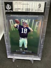 New listing 1998 Topps Finest #121 Peyton Manning Colts RC Rookie BGS 9 MINT w/ 9.5