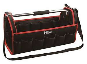 """HILKA 20"""" Tote Tool Caddy Bag Carry Case With Heavy Duty Base Holdall 27 Pockets"""