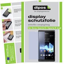 1x Sony Xperia E / Xperia E dual Protector de Pantalla protectores mate