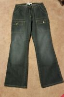 Faded Glory Missy Junior Women's Jean's size 10 Dark Tint Used in Good Condition