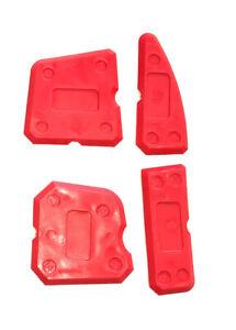 Fugenglätter Set 4 Stück Silikon Acryl Abzieher Fugenabzieher Silikonglätter rot
