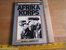 Ballantines Illustrated History AFRIKA KORPS Rommel's Desert Soldiers 1970s book