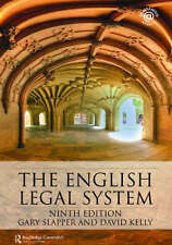 The English Legal System by Gary Slapper, David Kelly (Paperback, 2008)
