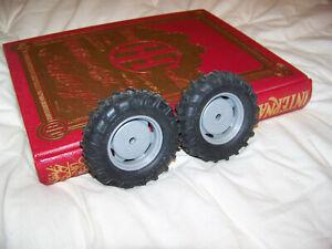 Parts, Deutz Allis 9150 FWA front wheels, 1/16, Ertl, Plastic rims, custom DA