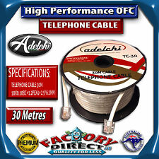 30M High Performance OFC Telephone Extension Cable Lead RJ11 ADSL2+ Filter Modem