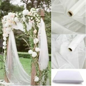 Organza Fabric Tulle Roll Wedding Birthday Event Banquet Decoration 48cm*10m