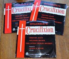 JOHN STAINER The Crucifixion classical music 3 VINYL LP SET Pilgrim Records 1960
