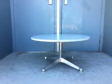 Herman Miller Table Eames Aluminum Group Contract Base Carrera Marble MCM Knoll