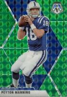 Peyton Manning 2020 Panini Mosaic Green Prizm Card #90 Indianapolis Colts