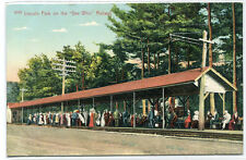 Lincoln Park Gee Whiz Electric Railway Depot New Bedford Fall River MA postcard