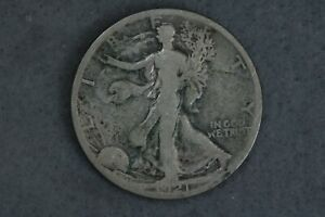 1921-S 50C Walking Liberty Silver Half Dollar Early US Type Coin Key Date