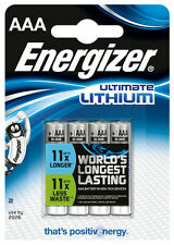4x Energizer Ultimate Litio AAA Batterie mn2400 lr03 Micro OVP-Nuovo