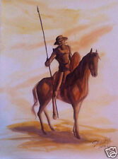 Don Quijote - watercolor painting by Onix