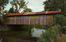 Covered Bridge Rt. 118 East Berkshire Montgomery Vermont VT New England Postcard